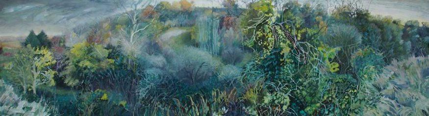 Landscape painting Gloucestershire Karen Bowers