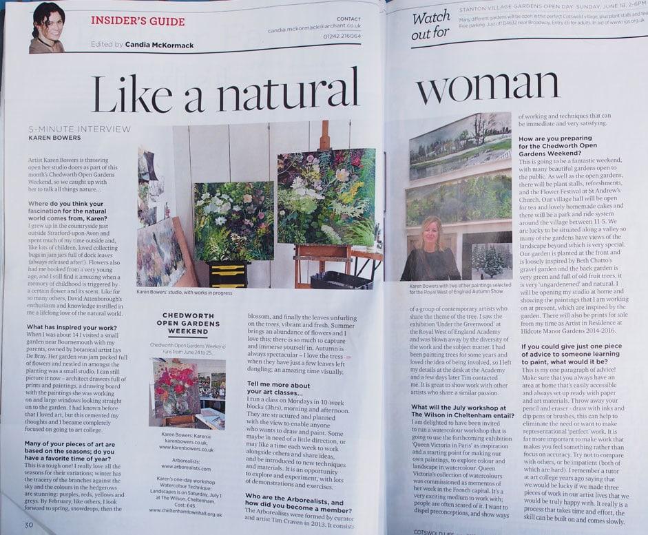 magazine article art classes gloucestershire